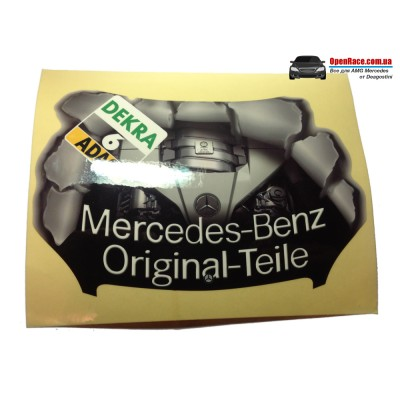 "Наклейка на капот ""Mercedes-Benz Original Teile"""