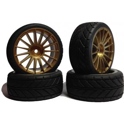 Комплект RC колес (4 шт), окрашенные в золотистый, оригинальные